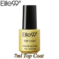 Elite99 Moda 7ml il cappotto superiore del gel Vernice Soak Off Nail Polish UV Long Lasting Nail polacco del gel semi permanente Top Coat