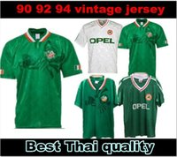 11990 1992 1994 Irland Retro Fussball Jersey 90 92 94 Irland Classic Jersey Irland Vintage Irish Sheedy Football Hemden Kits Sets