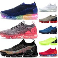 Nike Air Vapormax FLYKNIT 2 Chaussures de course pour hommes femmes Be True Ultramarine Noir multicolore TRIPLE blanc Volt Rouge Orbit TN Sneakers