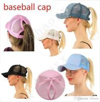 الجملة حار ذيل حصان قبعة بيسبول السيدة ذيل حصان قبعة أزياء فتاة كرة السلة قبعة سترة قبعة ذيل حصان