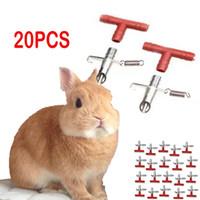 20Pcs Kaninchen Wasser-Zufuhr Nagetier Kaninchen Frettchen Maus Nippel Wasser-Trinker