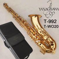 Profesyonel Yanagisawa Tenor Saksafon T-992, T-WO20 Bb Vernik altın Tenor Sax Yüksek Kalite Nefesli Enstrümanları Aksesuarları Ücretsiz Kargo