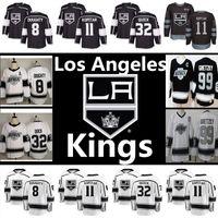 남자 로스 앤젤레스 킹스 저지 99 Wayne Gretzky 11 anze kopitar 8 Drew Doughty 32 Jonathan 빠른 자수 로고 하키 유니폼