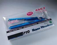 ¡Listo para enviar! Favorable titanio 450F 1/4 Platte de titanio plancha de pelo que endereza los hierros hierro plano de rulo