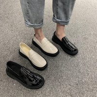 Women Low Top Classic Oxfords Shoes Patent Leather Med Squar...