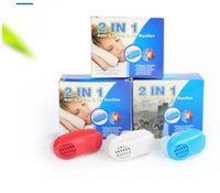 Dropshipping New 2in1 Anti Stop Snoring Snore Free Silicone Magnétique Snore Stopper Sleep Device en stock