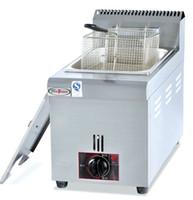 GF71 encimera comercial de acero inoxidable eléctrica de gran capacidad de pollo lpg gas freidora máquina con cesta LLFA
