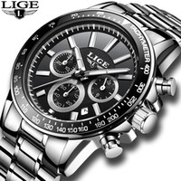LIGE Men' s Watches Watch Mens Quartz Stainless Steel Cl...