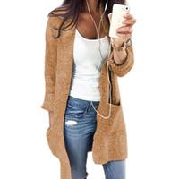 Novo longa cardigan camisola das mulheres fora solta solta longa camisola de malha senhoras jaqueta corta-vento das mulheres tamanho grande