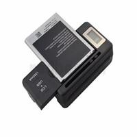 batteria universale intelligente LCD Indicatore Caricabatterie per il Samsung i9500 S4 S3 I9300 NOTA 3 S5 Con Usb uscita di carica degli Stati Uniti SPINA UE