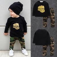 Meninos conjuntos de roupas primavera outono crianças algodão casual t-shirt + calças 2 pcs treino para meninos do bebê childres conjuntos de roupas de moda sports ternos