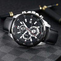 EFR-539 Luxury watch mans leather band watch 43.5mm Designer Japanese OS quartz Movement men Watch