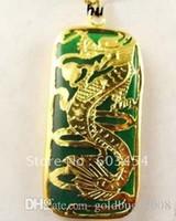 Оптовая Superb 18 КГП дракон зеленый нефрит мужские ювелирные изделия кулон и ожерелье