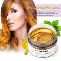 Mofajang временные цвета волосы воск воск 120 г сильные удерживающие волосы POMADE Easy стирают 7 цветов мода косплей