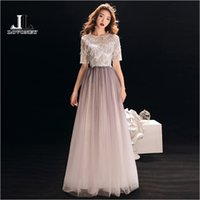 wholesale Elegant Short Sleeves Evening Dresses Long Formal ...