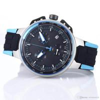 Quartz Mens Relógios sumptuoso Fashion Designer 45 MM Black Dial Fecho dobrável Rubber Band presente 2020