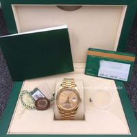 40mm sklepikarz poleca wysokiej jakości zegarek 228238 18K Gold Champagne Dial Automatyczny prezent męski