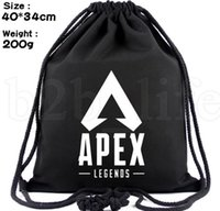 Apex Legends Drawstring bag student black Drawstring Bag Gym...