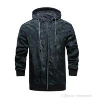 Модные дизайнерские камуфляжные толстые куртки с капюшоном с длинным рукавом Мужские пальто весна Мужская верхняя одежда с застежкой-молнией