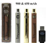 2019 النحاس المفاصل بطارية 650 مللي أمبير 900 مللي أمبير الذهب vape متغير الجهد vape القلم ل 510 thraed سميكة النفط vape القلم