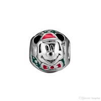 2018 Winter 925 Sterling Silver Jewelry Santa Charm Beads Fi...