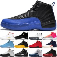 Nike air jordan Scarpe Uomo di pallacanestro 12 Chaussures 12s grigio scuro Gioco Reale Reverse Taxi Hot Punch Palestra Red Mens Trainers Outdoor Sport Sneakers formato 8-13