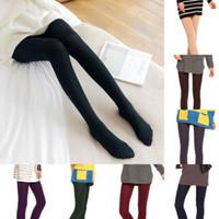 Le donne spesso di inverno caldo pile foderato termico elastico scarno sottile Leggings
