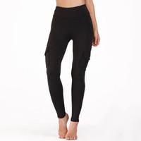 LI-FI черные брюки для йоги спортивные леггинсы тренировки бег тренировочные леггинсы пуш-ап узкие брюки тонкий удобный карман носить тренажерный зал