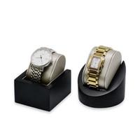 Роскошные часы дисплей стенд PU кожаные мужские наручные часы держатель поднос с подушкой для бутик-магазина витрина выставки выставки