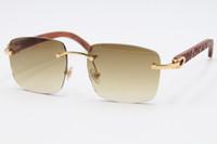 2020 الشحن المجاني 8300816 نمط نظارات بدون إطار نظارات الخشب منحوتة إطار نظارات الخشب للجنسين ديكور الخشب نظارات C الديكور الاب الذهب
