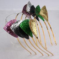 Lovely Cat Oreilles Tête Cerceau Or Flash Poudre Populaire Cheveux Cerceau Femelle Style Paillettes Ornement De Cheveux Édition Coréenne Color Mix 1 3yc k1
