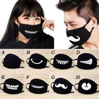 masques de mode pour les femmes mascarilla Anime Cartoon expression dents moufles Chanyeol Visage Anti respirateurs Kpop Masques D30