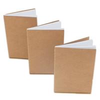 كرافت الدفتري الكتب الفارغة غير المبطنة الرجعية كرافت براون الدفاتر البيضاء للمسافرين طلاب وكتابة مكتب 8.8 * 15.5cm