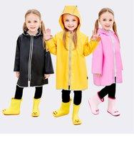 ilkokul öğrencileri yağmur panço ceket ücretsiz kargo yeni çocuk çocuklar bebek yağmur ceket panço erkek kızlar için 75-125CM su geçirmez yağmurluk