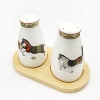 Porcelain salt and pepper shakers god horses desi bone china in salt bottle pepper bottle bone china salt pepper free shipping
