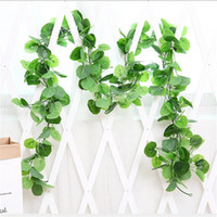 Artificial Fake Hanging Vine Plant Leaves Garland Home Garde...