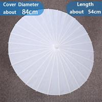 Livre blanc Ombrelles mariage mariée parapluies chinois Mini Craft Diamètre parapluie 20 30 40 60 cm Parapluies de mariage pour gros