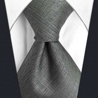 C20 Gray Solid Silk Mens Necktie Tie Fashion Wedding Acceossories Brand New extra long size Ties for male