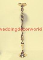 Yeni stil Gümüş ve Altın Tall düğün çiçek şamdanlar standı / satılık metal vazo şamdanlar düğün centerpieces decor000105