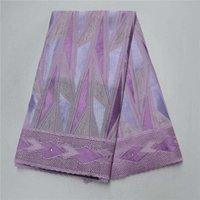 Tissu 2021 Dernier Liac Couleur Nigeria Swiss Dentelle Lacets de haute qualité Lacets de voile Suisse Coton Africain Dry pour tissu-l5