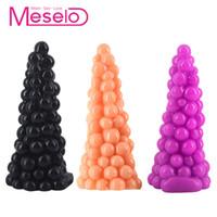 Forma Meselo la novedad de la uva Enchufe anal grande del enchufe del extremo Sexo Gay juguetes para los hombres Mujer Masturbador enorme consolador Anal Beads Sexo Productos Nueva Y191218