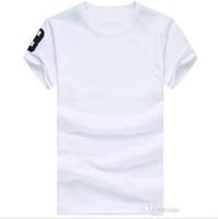 Frete grátis 2019 de alta qualidade do algodão New O-pescoço manga curta T-shirt Marca Homens T-shirts casuais para Estilo Esporte Homens T-shirts