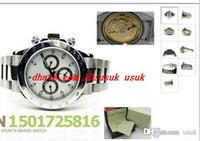 Lüks İzle Paslanmaz Çelik Bilezik Kol Beyaz Kadran 116520 7750 Otomatik Chronograph Suya Dayanıklı Erkekler Izle Erkekler Saatler