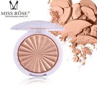 Miss Rose Highlighter del maquillaje del reflejo de un solo color en polvo de resaltado paleta Base iluminador facial sobresaliente del contorno de oro bronceador