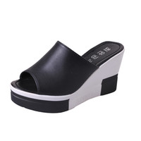 New Summer Women's Sandals Peep-toe Shoes Donna Platfroms tacchi alti Casual Wedges per le donne Tacchi alti scarpe
