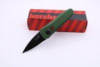 Couteau de haute qualité Kershaw 7500 Mini Couteau de poche pliant 440C Lame 6061-T6 poignée verte de fruits Couteau de cuisine Couteaux de survie tactique EDC