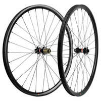 MTB الكربون العجلات 27.5ER 25MM 27mm وعمق العرض جبل عجلات Novatec محور 411-412 مركزا 6 الترباس 3K حك الكربون عجلات