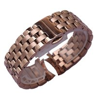 Rosegold Paslanmaz çelik İzle bands kayış bilezik 16mm 18mm 20mm 22mm saat kayışı kavisli son moda kol saati aksesuarları kelebek toka