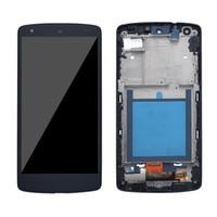 Commercio all'ingrosso per LG Nexus 5 D820 D821 LCD Touch Screen Display Digitizer Assembly schermo 4.95inch completo con telaio di ricambio migliore qualità