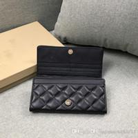 Chanel desenhador carteira bolsas carteira tipo luxuoso da forma Bolsa carteiras PU Casual Carteiras Vendidos Homens Mulheres Carteiras com saco de poeira